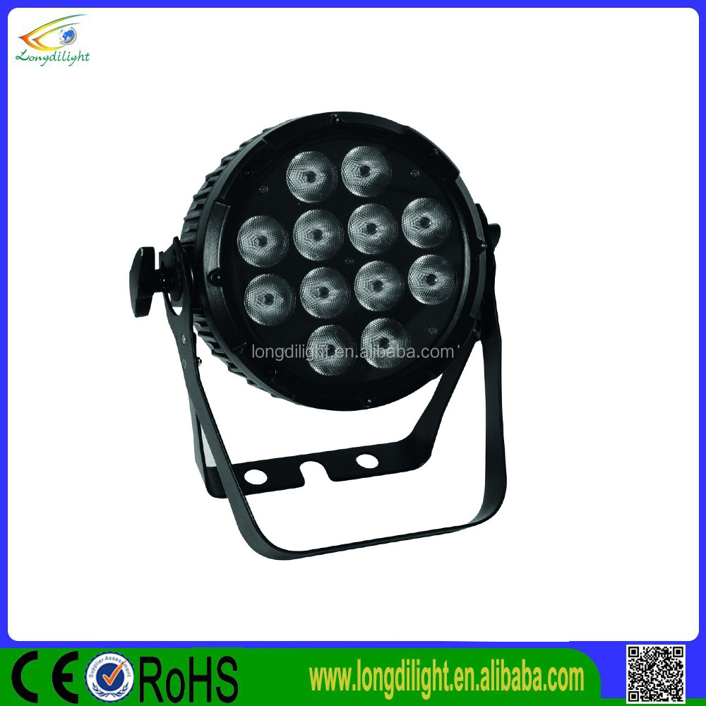 Mini dj light 12pc 9W 3in1 led par effect dmx stage lighting