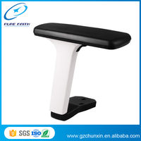Buy 3D chrome metal armrest with pu pad for office chair armrest ...