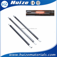china supplier Alpha silicon carbide SiC tubular heater elements rods