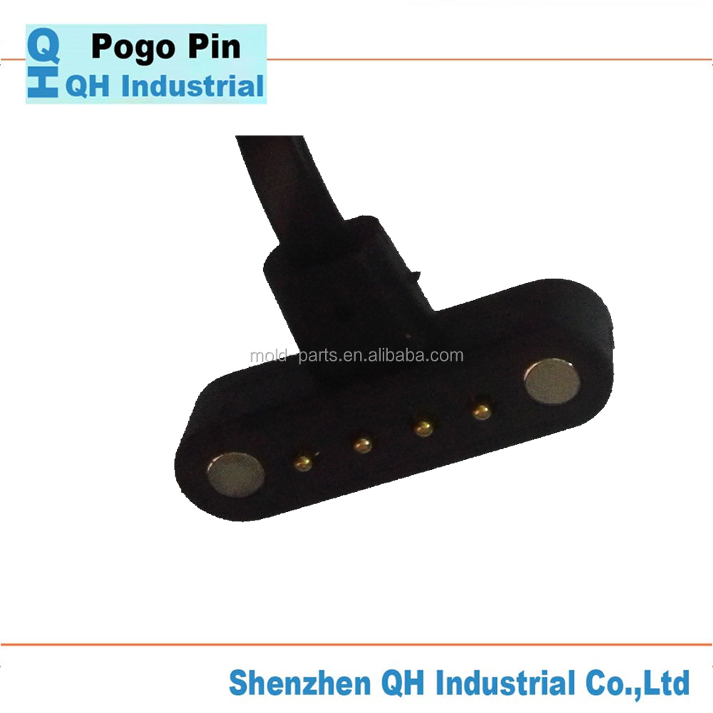 QH Industrial Company Good Quality High Precision Magnetic Power Pogo Pin Connector For Laptop