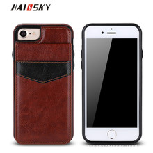 HAISSKY For iPhone 7 iPhone 6s 6 Cases Luxury Flip Card Wallet Stand Phone Back Cover Wallet Leather Case