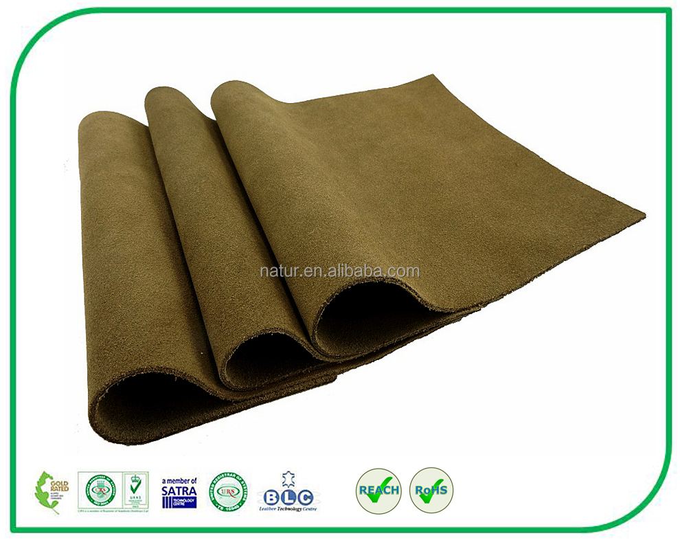 High Quality 1.4 1.6mm Waterproof Cow Split Suede Leather