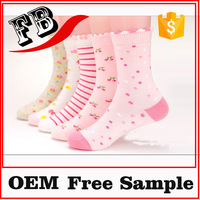 wholesale ankle socks cotton christmas socks for girls kids socks with lace