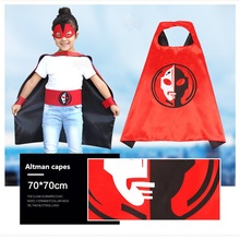 New Products 2016 Custom Superhero Costumes 2 Sets satin capes