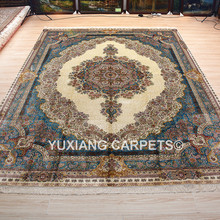 Yuxiang 9x12ft Chinese silk hand knotted carpet persian muslim rugs for living room