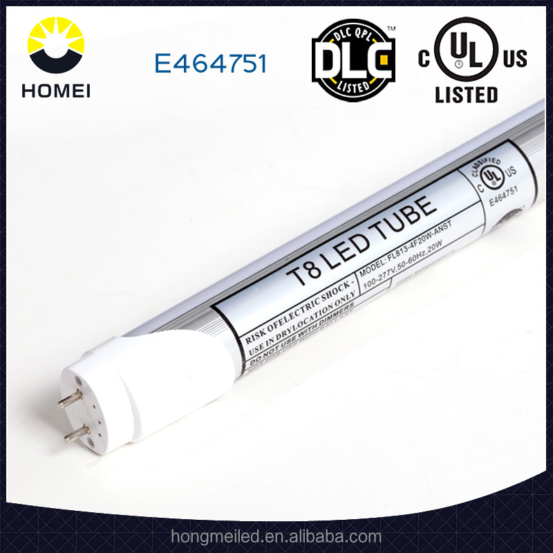 dlc, ul,cul approved, instant fit led t8 tube compatible