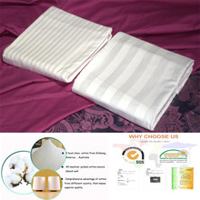 Cotton stripe hotel bedding sets fabric from home textile manufacturer