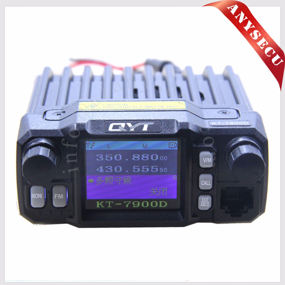 Mini Walkie talkie Upgraded Version QYT KT-7900D Dual band 144/440MHZ Mobile radio 25Watts Large LCD Display KT8900D