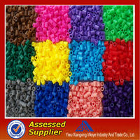 2014 new product diy educational toys round hama perler plastic beads 3mm 5 mm