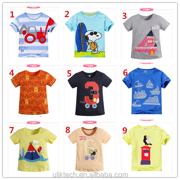 China wholesale outlet clothes kid clothes kids T-shirt wholesale baby boy clothes