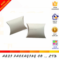 ivory cardboard food grade paper folding clear pillow box for sweet packing