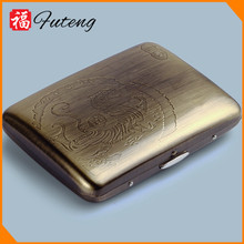 16PCS Bronze wire drawing Top Selling Tobacco Case Metal Case