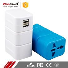 Customized Logo Printing AC DC Power Universal Adaptor Multi Plug Travel Adapter With USB
