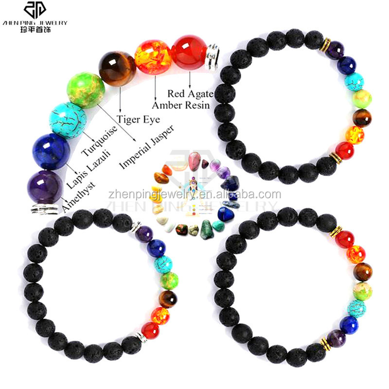 Energy healing beaded 7 chakra jewelry with natural stones