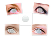 full white color contact lens contact lenses with special feature as blind person