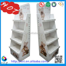 Custom Cosmetic Product cardboard Display Stands, cosmetic display showcase,paper Cosmetic Display stand
