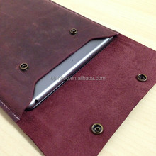 high quality retro wine red Leather battery for ipad mini 3 case