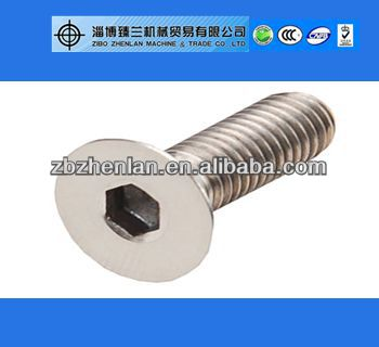 ASME/ANSI B18.3 Hex Socket Flat Countersunk/Socket Head Cap Screw