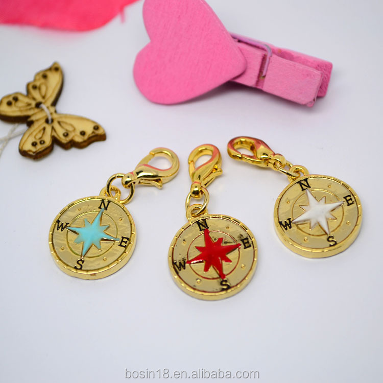 Metal charm luminous gold pendant double sides delicacy pendant hot sale