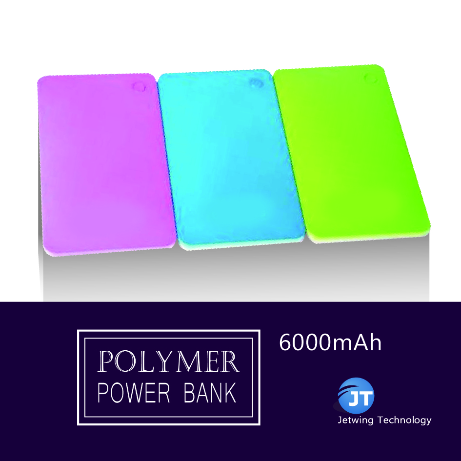 Best gift hot sale corlorful silm cute power bank 6000 mAh for smart phone