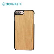2017 tpu/pc +wood phone case mobile plain cover for iphone 7 plus slim