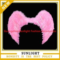 2015 pink feather angel wings party wings for costume