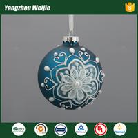 Ball shaped christmas glass hanging ornaments