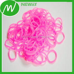 Factory Customize Affordable Prices Hot Pink Rubber Bands