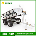 1T 4 wheel garden log small car tipping trailer