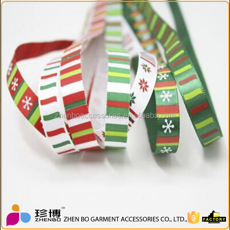 Wholesale custom Single-sided satin ribbon printed for gift packaging, birthday party decorations