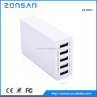 CE FCC ROHS mobile phone wall ac dc charger/smart power micro usb charger/android tablet 5 port usb charger for samsung