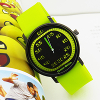 New arrival 10 jelly color band silicone watches,Promotional customized brand quartz watches