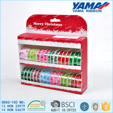 Yama 100% polyester elegant design merry christmas celebrate it ribbon