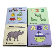 Customized child english story board <strong>book</strong> cardboard printing children's board <strong>book</strong>