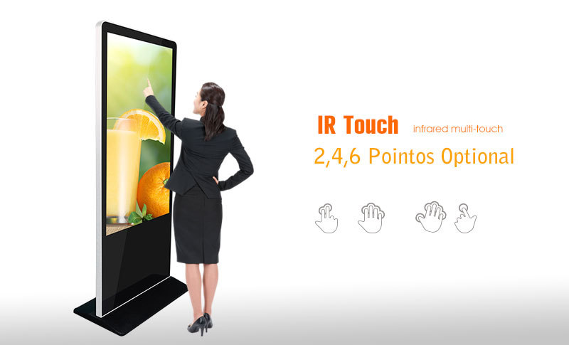 42inch free stand led advertising equipment with full hd 1080p