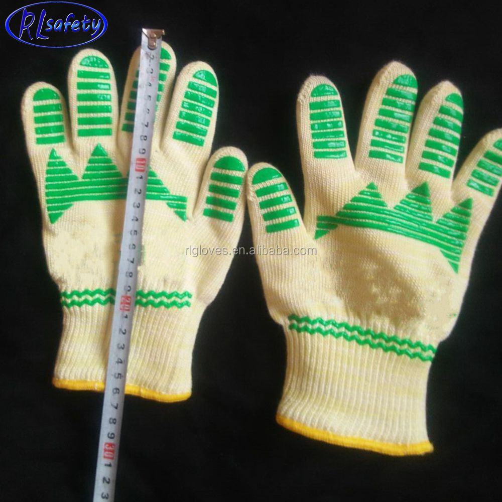 ANTI-HOT heat protect up to 500C silicone glove with five fingers