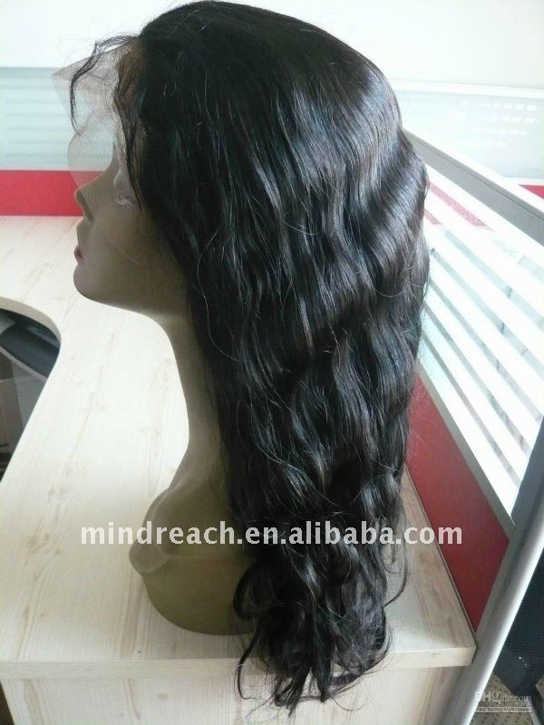 "Cheap Christmas wig 18"" Indian Remy hair front lace wigs for black women"