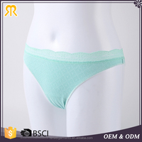 New design sheer light green panties cute young girls sexy underwear