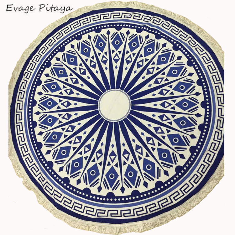 New design Low MOQ magic cheap factory price soft round beach towel <strong>cotton</strong>