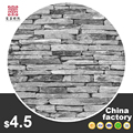 Stone Brick chess wooden Distinctive wallcoverings3d design home decorative pvc stone wallpaper