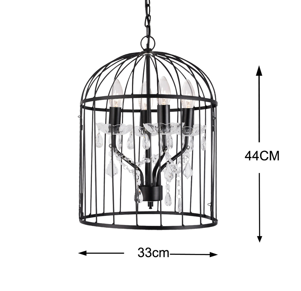 alibaba china birdcage ceiling pendant chandelier led