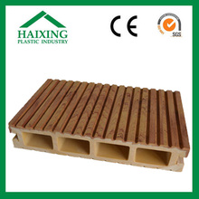 Timber color plastic wood outdoor flooring tiles