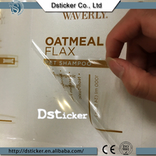 Printing Waterproof Transparent Daily Life Products Label