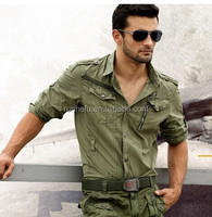 Wholesale ManCamouflage Military Uniform Shirts/Army Khaki Shirts for Man/Long Sleeve Shirts
