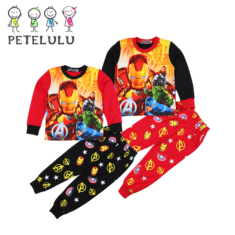Autumn Long Sleeve Pajamas Kids Clothes Cotton Children Chineses Clothing Boys Clothing