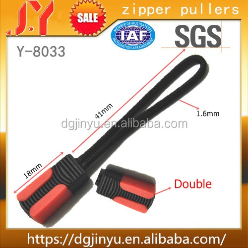 Dongguan Reflective Zipper Pull Cord Replacement Zip Pullers