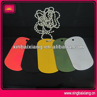 Color Printed Custom Metal Dog Tag With Laser Engraving