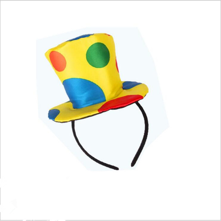 Factory derict sale funny clown top hat headband