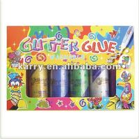 WASHABLE GLITTER GLUE 6 COLORS 60 ML PER TUBE NON-TOXIC