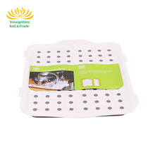 Factory direct price eco-friendly foldable dish drying mat, plastic folding drain board